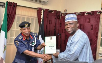 Working Visit to Borno's State NSCDC Commandant